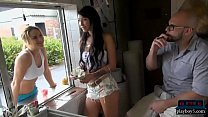 Cute butt amateur blondie takes on a big hard c...