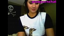 young girl shows boobes & plays wood dildo on webcam