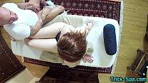 Fooled teen sucks masseur | sex with friend mom thumbnail