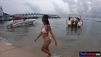 Beach tease and romantic fuck with Thai wifey