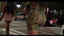Big Booty leaving Night Club - Candid Ass