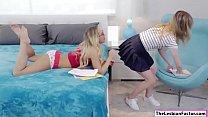 Lesbian Carter licks her tutors pussy