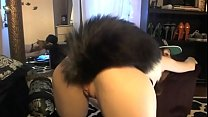 Teen with fox tail butt plug - Webcam preview image