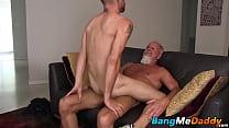 Landon wastes no time dropping and thrusting his hard cock