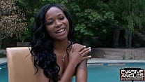 EVASIVE ANGLES Big Butt Black Girls On Bikes 2 Interview   Masturbate.  He invites the girls back to his fancy pad where they service his dick and rub their pussies by the pool.