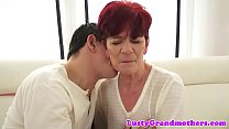 Redhead grannys shavedpussy fucked preview image
