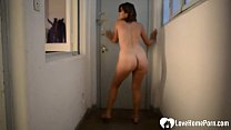 Naughty stepsister caught teasing while on camera