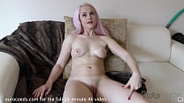 simona back and using hitachi on her clit and finger blasting herself