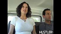Slutty stunner Stephanie Wylde fed cum after van dicking
