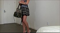 Blonde amateur with mile long legs begs