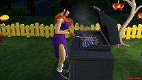 Videl le Hace Masaje a su Suegro Goku Follada al frente su Marido Cornudo Dragon Ball Parodia Hentai صورة