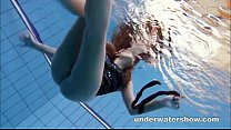 14394 Zuzanna is swimming in pantyhose in the pool preview