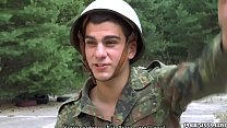 Young Gays In Uniform Exchange Blowjobs On The