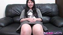 Japanese mature Aki Kitamura sucks asian dick