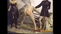 Slave endures everything that three dominant bitches throw at him