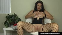 Big Boobed Milf Charlee Chase Stuffs Her Muff With A Dildo! thumbnail
