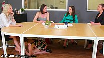 AllGirlMassage Kristen Scott's Feet Massage To Her Boss Kenzie Taylor Takes A Wet Turn