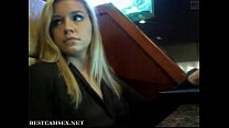 Hot Blonde Public flashing in a bar pornhub video
