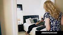mainstream blowjob & Step Mom Milf Julia Ann Gets A Load On Her Face By Step Son! thumbnail