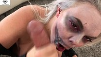 Big Breasted Alice Frost Halloween Skeleton Blowjob & Titty Fucking