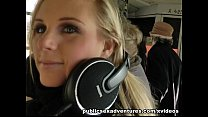 Blonde party girl loves outdoor fucking image