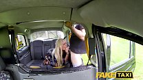 Fake Taxi Squirting blonde fingered and fucked by big cock cab driver صورة