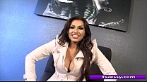 Big tit latina shemale Jessy Dubai gives away a private show