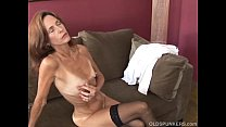 Slim old spunker in sexy stockings is feeling horny