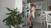 Fridge Humping  Gorgeous Milf  In A Bathrobe Cu