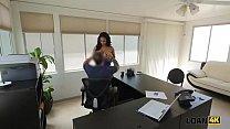 www.exbii.com & Loan4k. loan agent organizes porn casting for amateur brunette chick abby thumbnail
