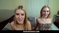 Cute blondes fucked by STEPDADDY during sleepover - Mazzy Grace Emma Starletto
