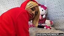 5349 Big Booty Ass Cheeks On Sexy Black Babe Panties Pulled Off Butt In Slow Motion , Msnovember In Doggystyle Position Get Pussy Exposed Then Laying Sideways With Thick Thighs On Tiny Body HD Sheisnovember preview