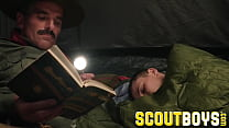 ScoutBoys - Austin Young fucked outside in tent by older daddy