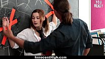 InnocentHigh - Tied up School Girl Likes Older Guys