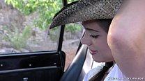 En Evissa Sex at the wrangler jeep - LittleCaprice.com صورة