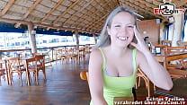 URLAUBS DATE - Deutscher Tourist trifft Spanische teen über EroCom zum Public Sex POV