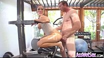 (london keyes) Girl With Big Round Butt Get Oiled And Anal Sex movie-21