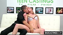 Shy teen comes to a bad casting
