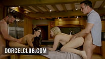 Very hot foursome with Cléa Gaultier and Katy Jane