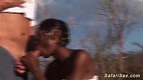 extreme hot outdoor african safari orgy - myrabbelle thumbnail
