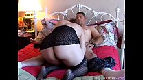 Super cute thick chick in stockings loves fucking & the taste of cum
