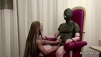 German Hot Teen Femdom Fuck older Man in Latex Vorschaubild