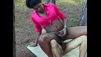 Black shemale Vinicius with big melons is not against to go somewhere private to ride his hard cock