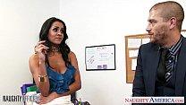 Busty brunette Abby Lee Brazil fuck in office image