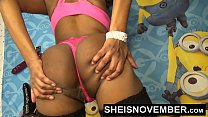 Msnovember Anal Dildo Fuck On Live Webcam & Solo Ebony Pussy Doggystyle Grinding صورة