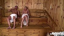 Anal threesome in the Sauna for Sophie Lynx & Lina Napoli - 69VClub.Com