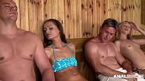 new xxxvidos - Anal threesome in the Sauna for Sophie Lynx & Lina Napoli thumbnail