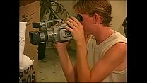 Blonde dude asked his neighbour to help him to put up a wall shelf after moving to new flat but they found camera recorder and decided to shoot amoteur bisexual movie