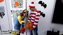 BANGBROS - Teen Evelin Stone Gets Bruno Dickemz's Dick In A Pumpkin porn thumbnail