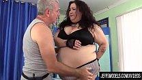 A Sex Crazed Masseur Rubs Down BBW Moon b.'s Fat Body and Fleshy Cunt